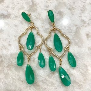 Kate Spade ♠️ green lantern earrings